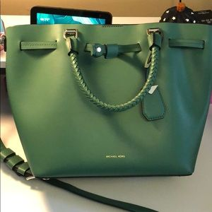green Michael Kors purse